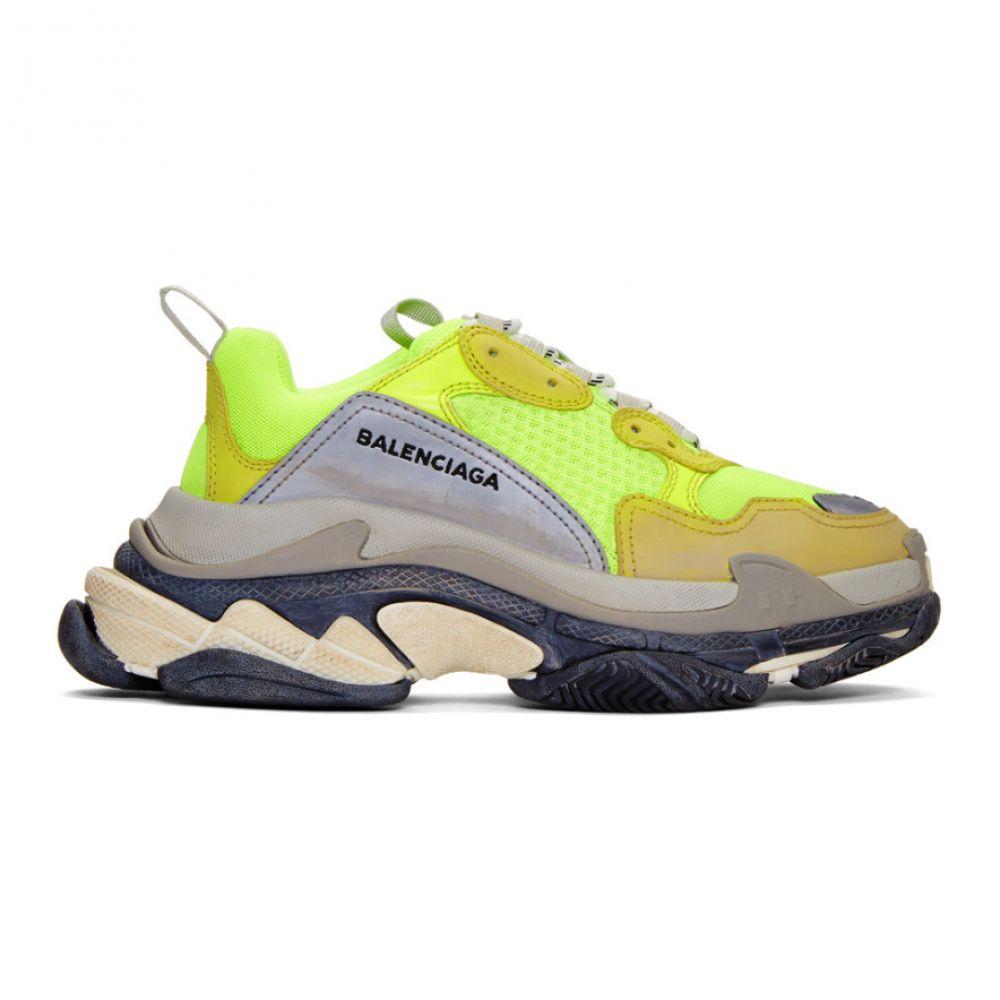 バレンシアガ メンズ シューズ・靴 スニーカー【Yellow Neon Triple S Sneakers】