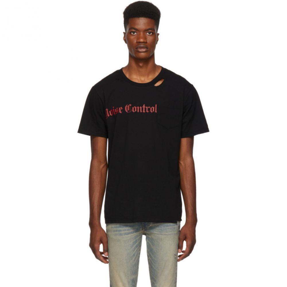 ストールン ガールフレンド クラブ Stolen Girlfriends Club メンズ トップス Tシャツ【SSENSE Exclusive Black 'Noise Control' T-Shirt】