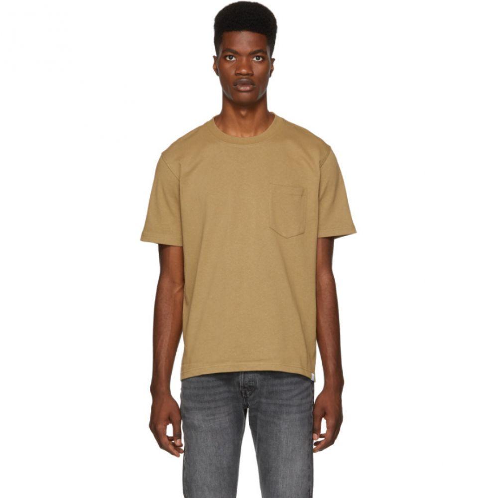 ノースプロジェクト Norse Projects メンズ トップス Tシャツ【Brown Johannes Pocket T-Shirt】