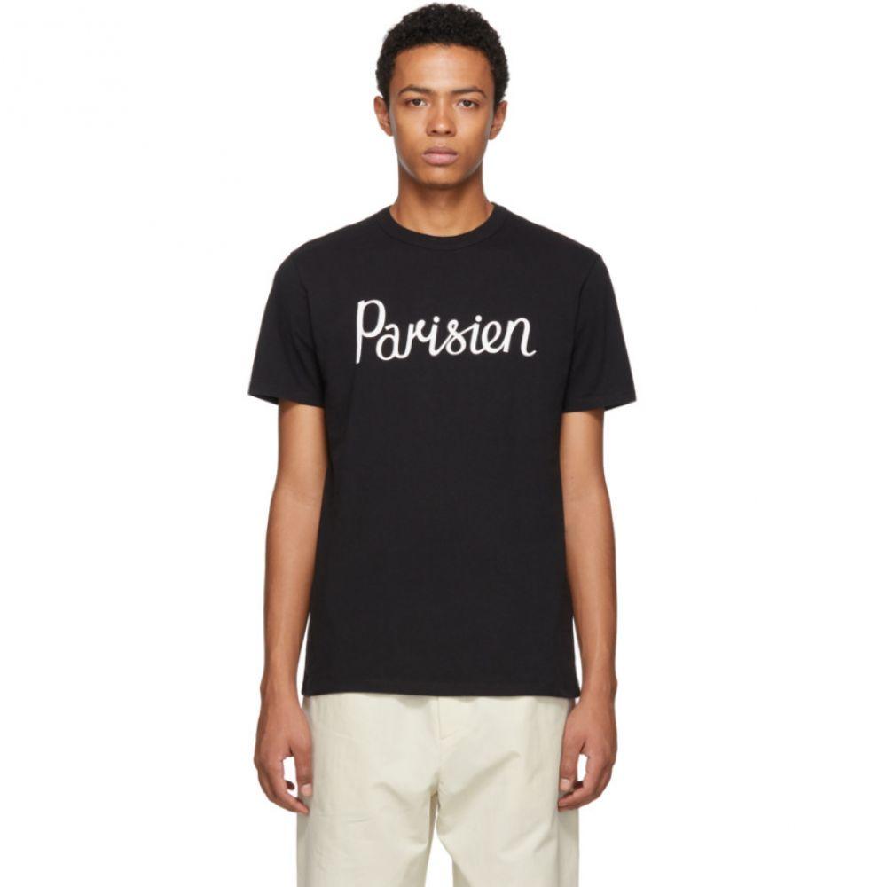 メゾン キツネ Maison Kitsune メンズ トップス Tシャツ【Black 'Parisien' T-Shirt】