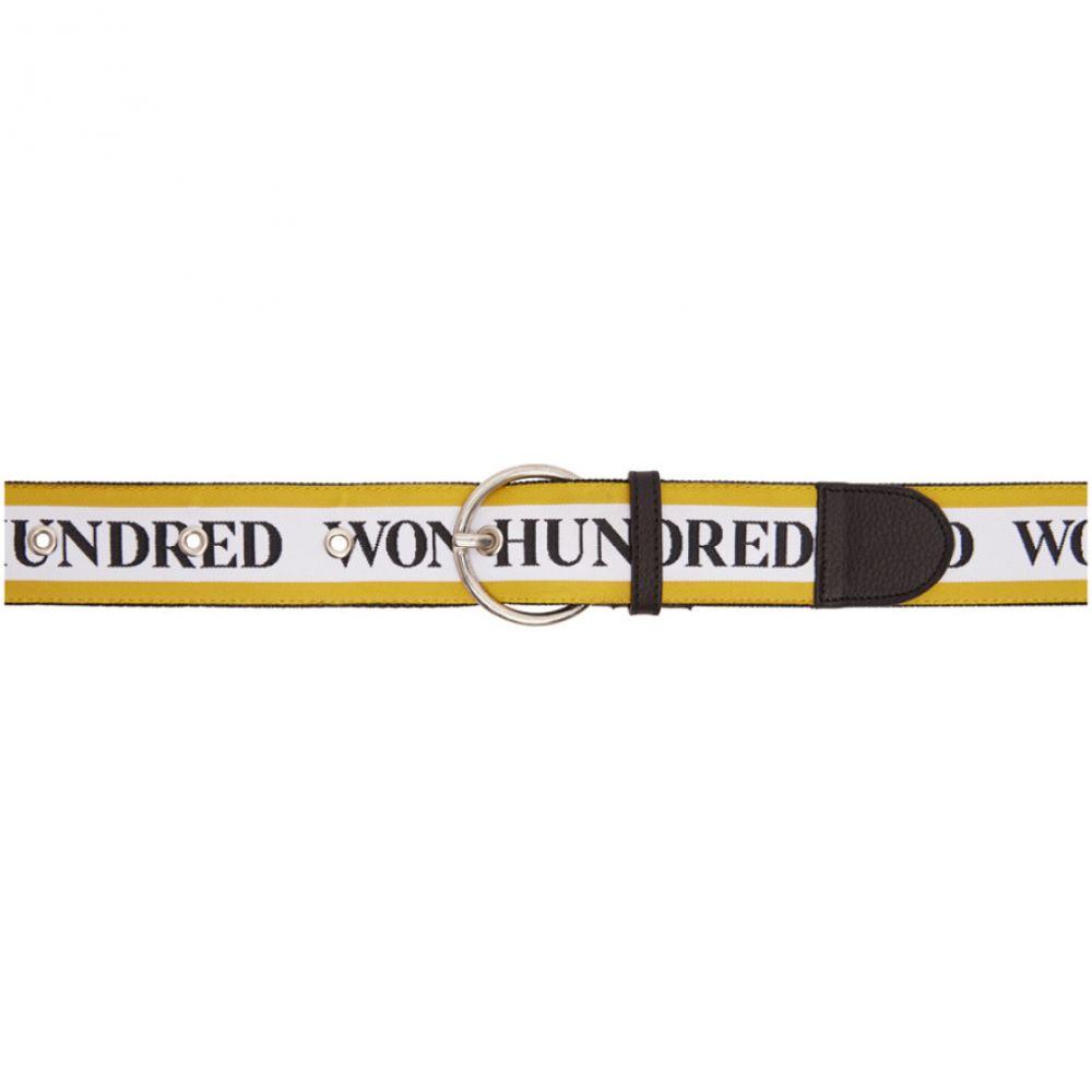 ウォンハンドレッド Won Hundred レディース ベルト【Yellow & White Lisbon Logo Belt】