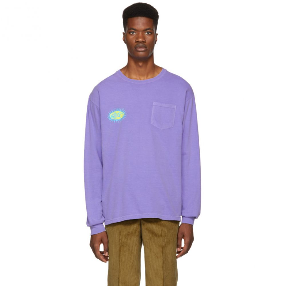 ノア Noah NYC メンズ トップス Tシャツ【Purple Pretty Logo T-Shirt】