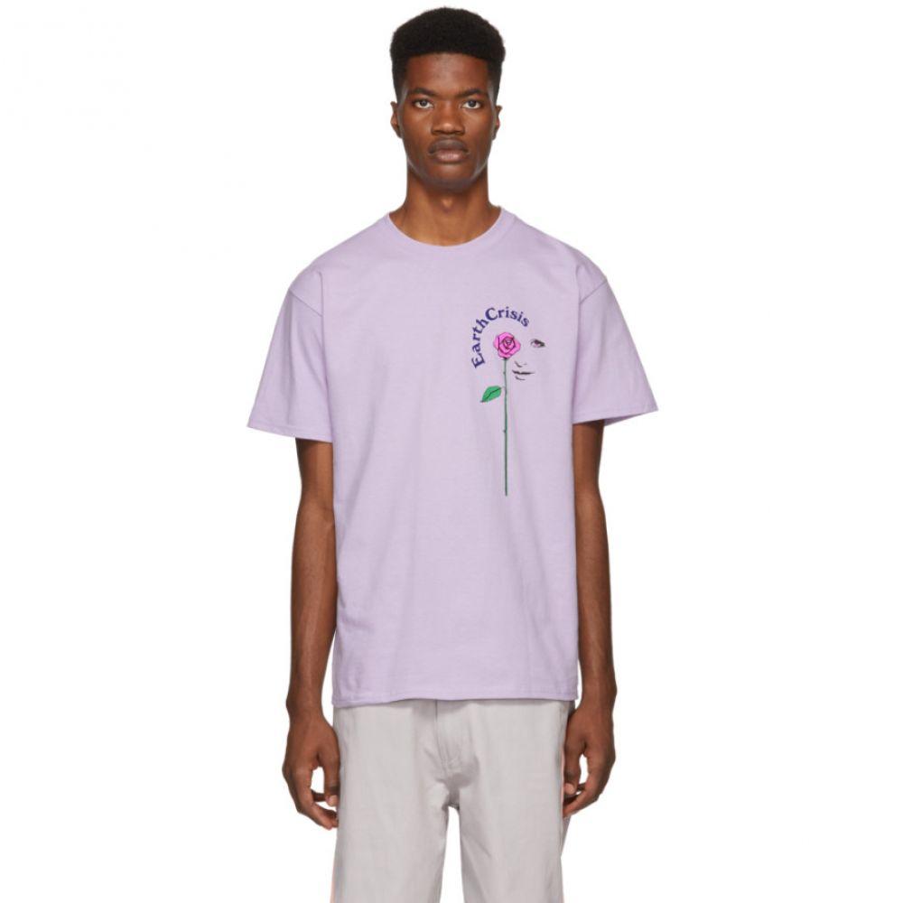 ノア Noah NYC メンズ トップス Tシャツ【Purple 'Earth Crisis' T-Shirt】