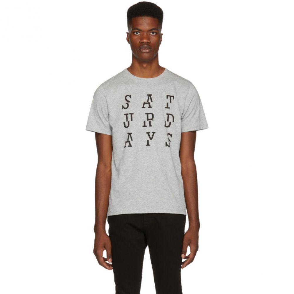 サタデーニューヨーク Saturdays NYC メンズ トップス Tシャツ【Grey 'Saturdays' Split T-Shirt】