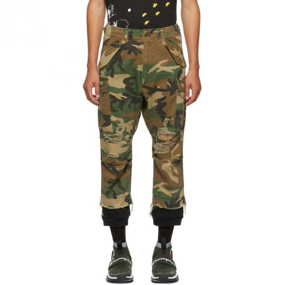 アール サーティーン R13 メンズ ボトムス・パンツ カーゴパンツ【Green Camo Harem Cargo Pants】