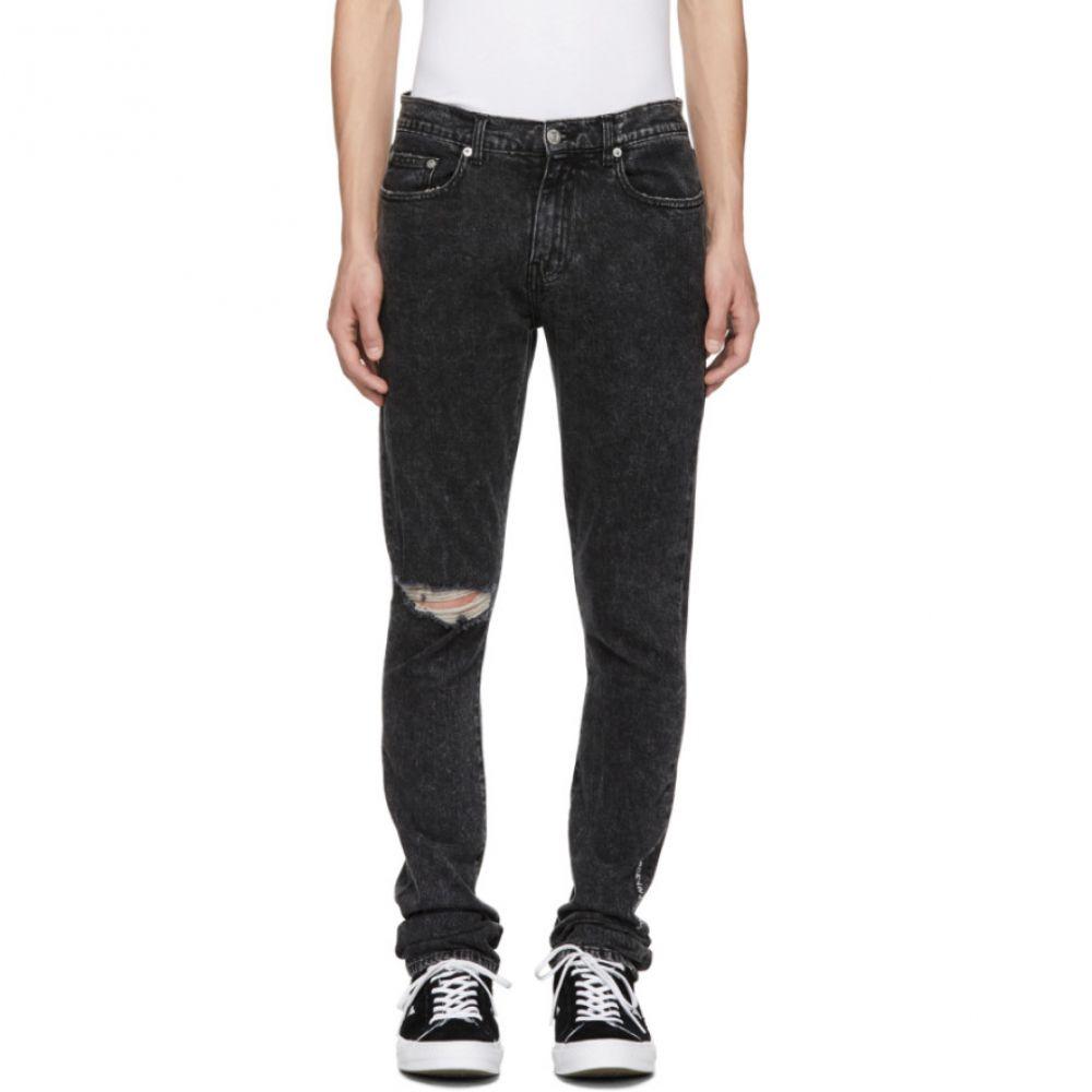 アダプテーション Adaptation メンズ ボトムス・パンツ ジーンズ・デニム【Black Roxy Ripped Slim Jeans】