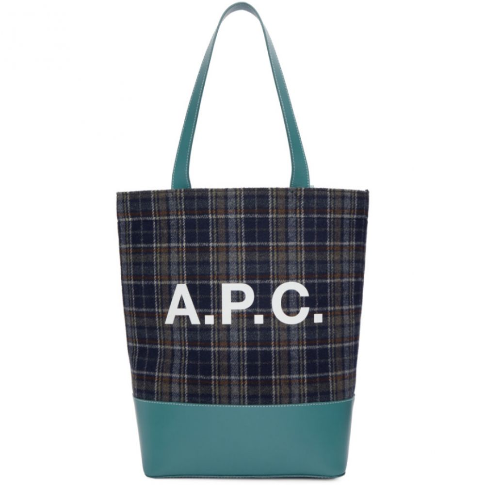 アーペーセー A.P.C. メンズ バッグ トートバッグ【Blue Check Axelle Tote】