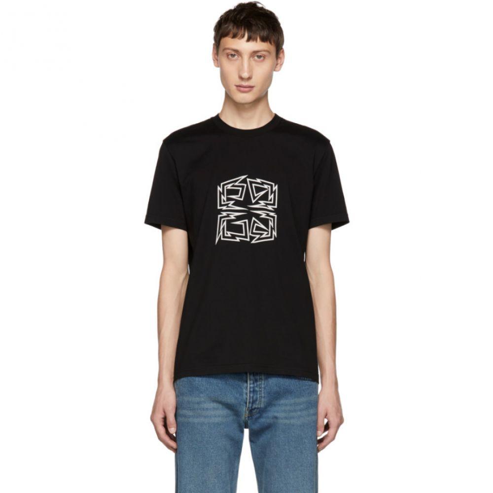 ジバンシー Givenchy メンズ トップス Tシャツ【Black Zig Zag 4G Logo T-Shirt】