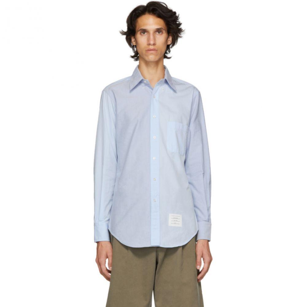 トム ブラウン Thom Browne メンズ トップス シャツ【Blue Funmix Classic Point Collar Shirt】
