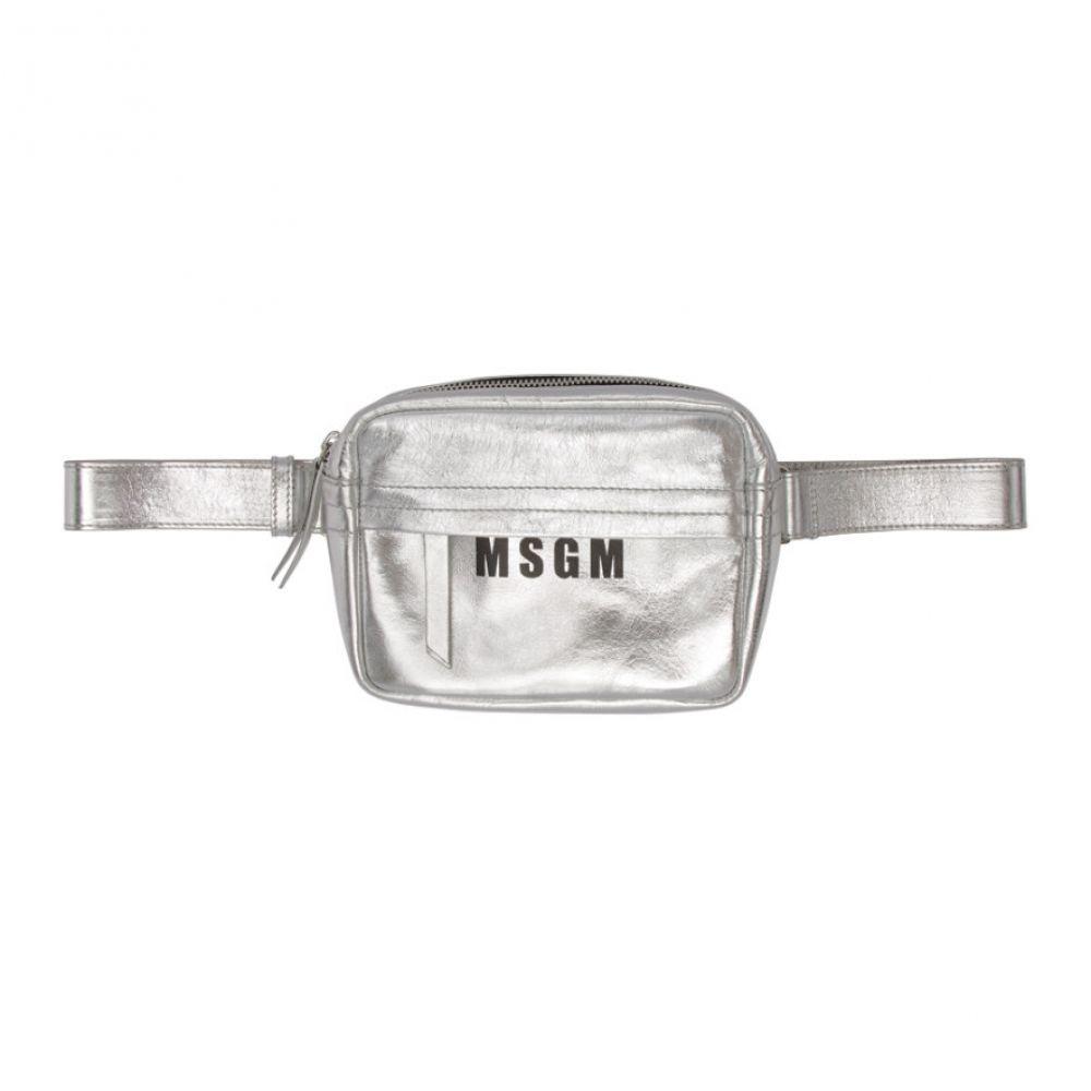 エムエスジーエム MSGM レディース バッグ ボディバッグ・ウエストポーチ【Silver Logo Belt Pouch】