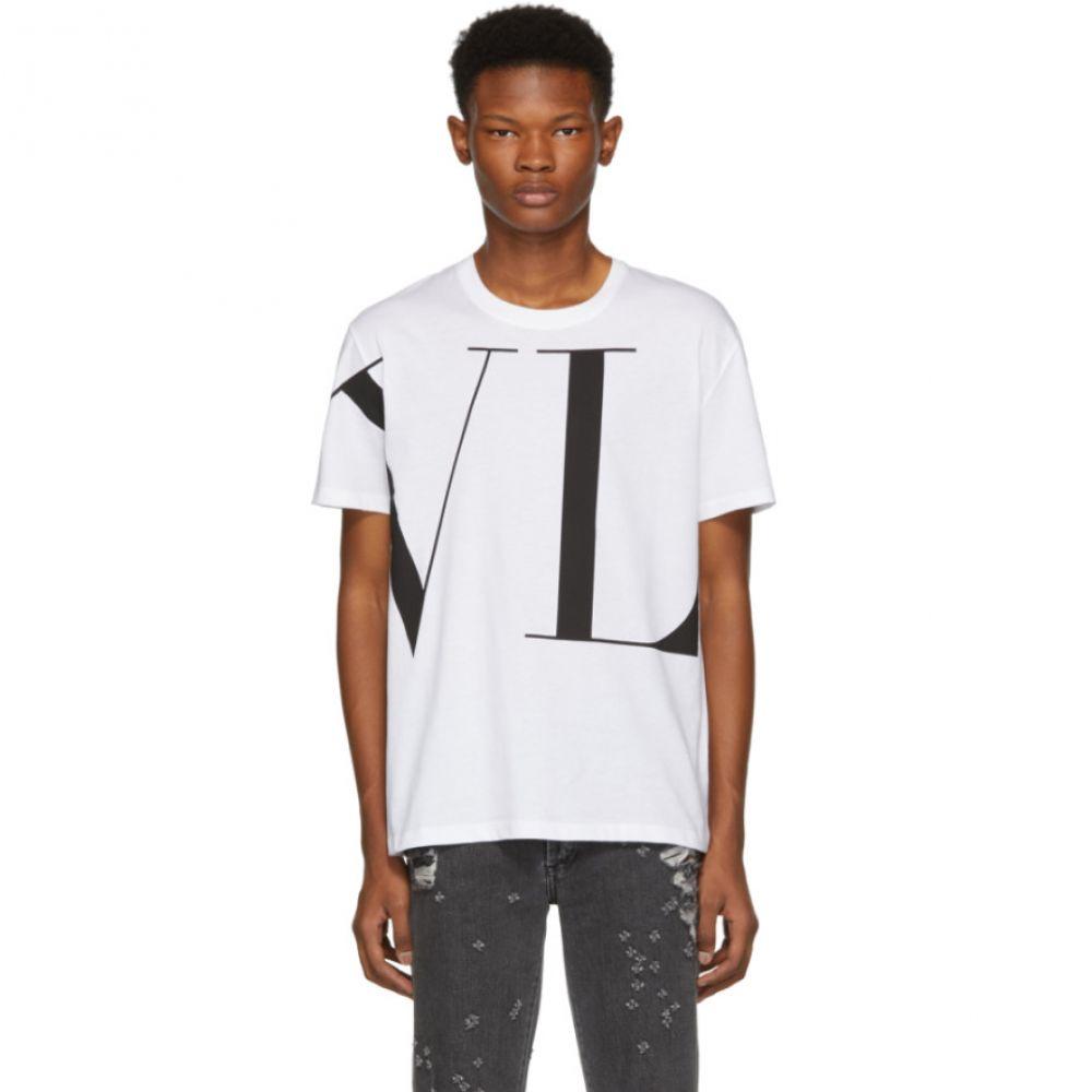 ヴァレンティノ Valentino メンズ トップス Tシャツ【White 'VLTN' T-Shirt】
