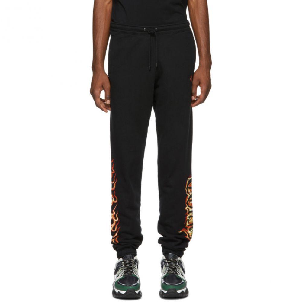 マルセロバーロン Marcelo Burlon County of Milan メンズ ボトムス・パンツ スウェット・ジャージ【Black Flame Lounge Pants】