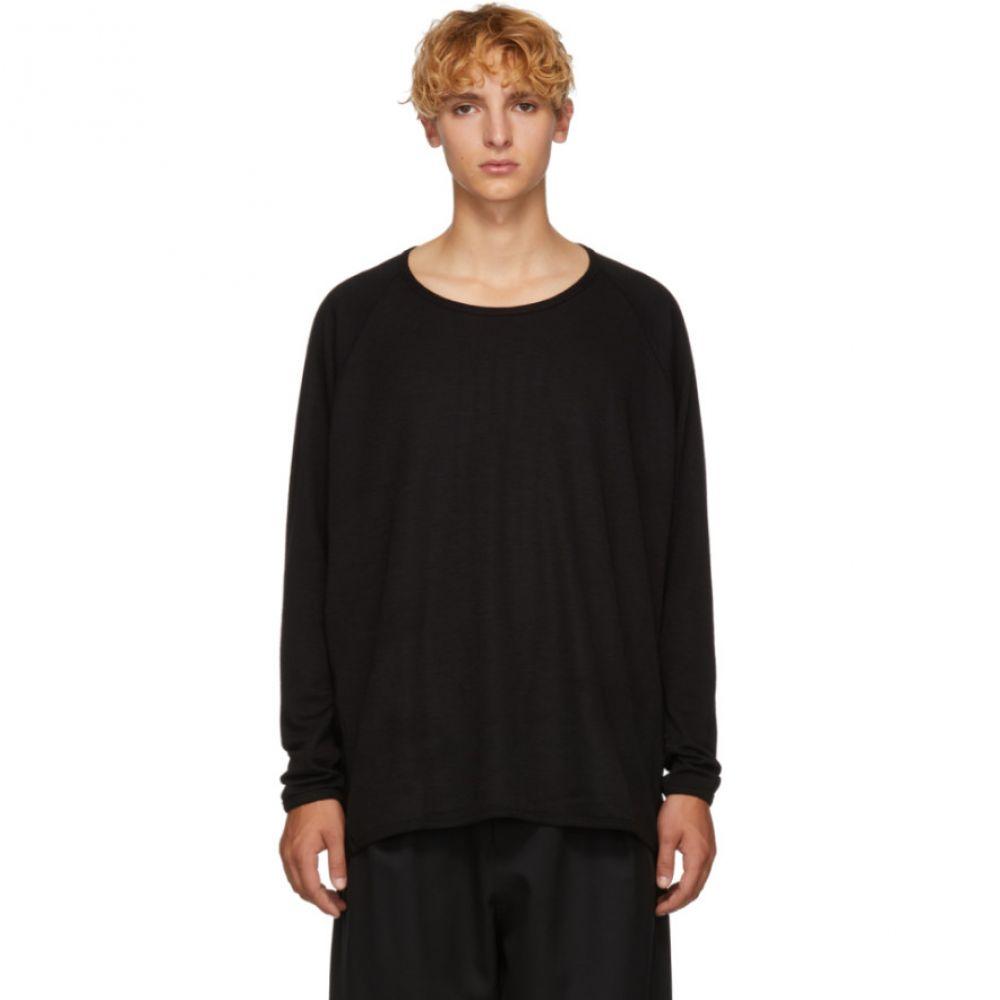 ヤン ヤン ヴァン エシュ Jan-Jan Van Essche メンズ トップス ニット・セーター【Black 1/1 Rib Sweater】