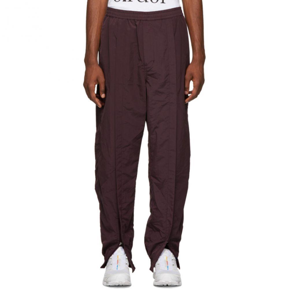 Trank ボトムス・パンツ Name. スウェット・ジャージ【Burgundy Ankle ネーム Zip メンズ Pants】