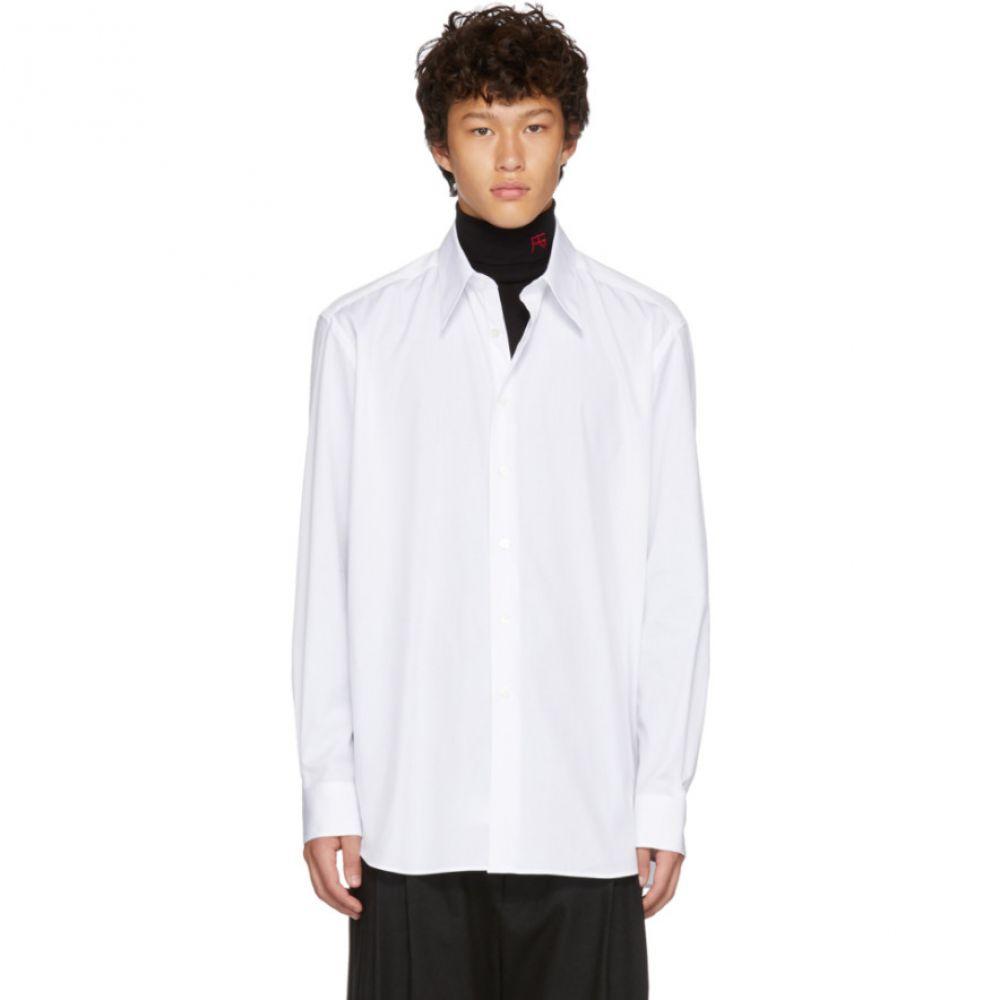 ラフ シモンズ Raf Simons メンズ トップス シャツ【White Back Pleats Shirt】