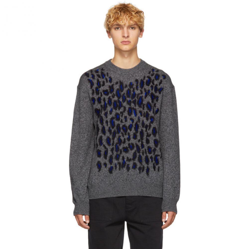 ケンゾー Kenzo メンズ トップス ニット・セーター【Grey Leopard Jacquard Sweater】