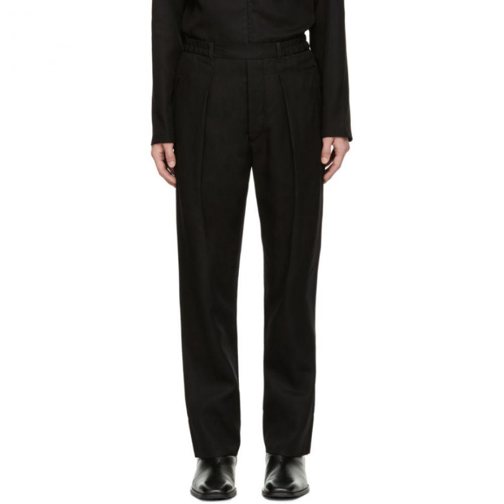 ルメール Lemaire メンズ ボトムス・パンツ【Black Elasticated Trousers】