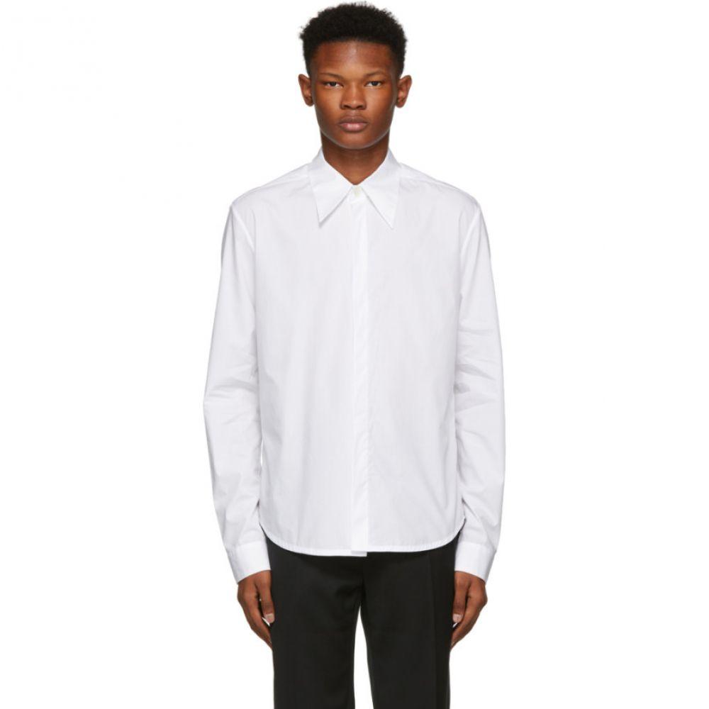 ナマチェコ Namacheko メンズ トップス シャツ【White Hidden Button Shirt】