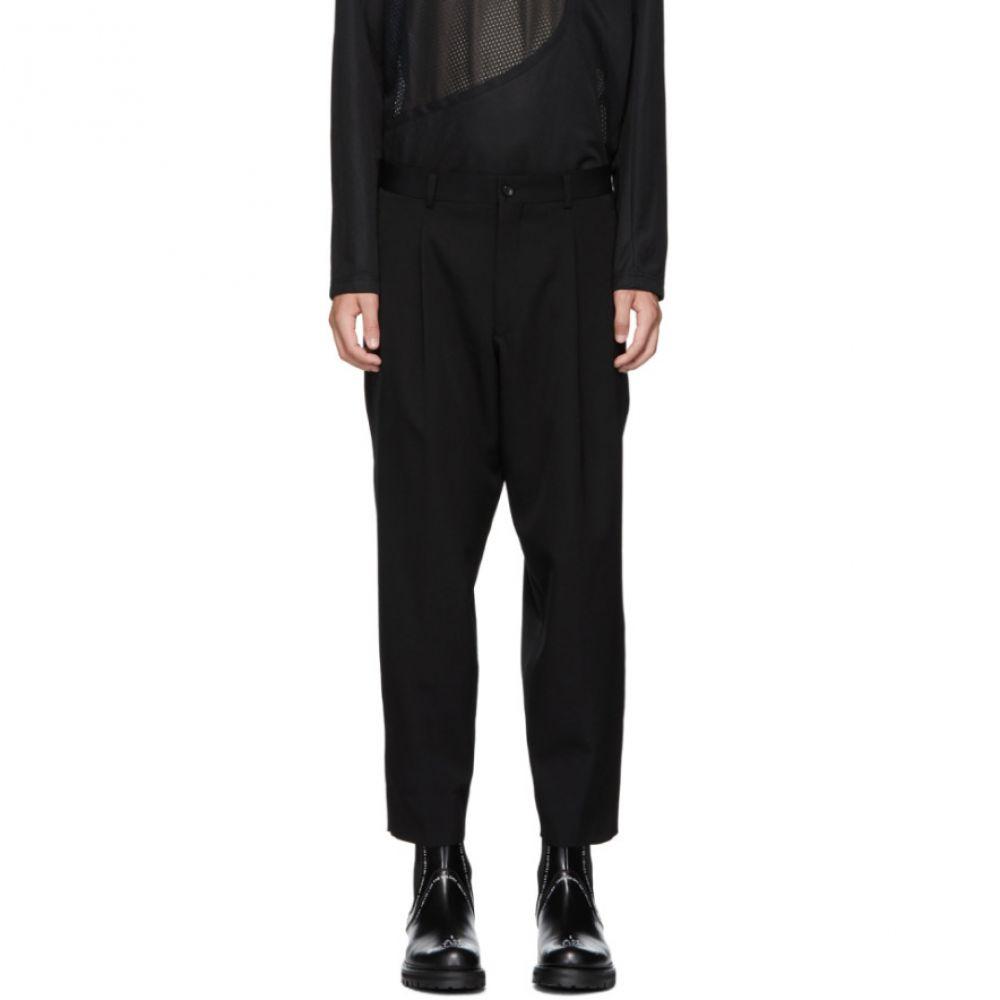 コム デ ギャルソン Comme des Garcons Homme Plus メンズ ボトムス・パンツ【Black Gabardine Trousers】