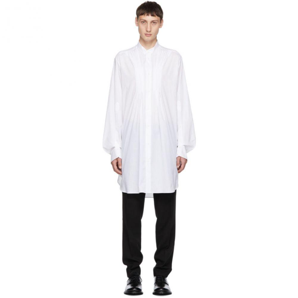 アンドゥムルメステール Ann Demeulemeester メンズ トップス シャツ【White Cotton Shirt】