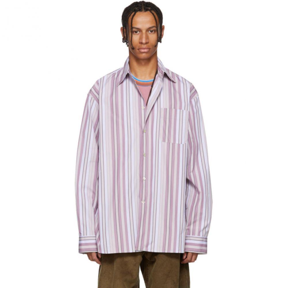 マルニ Marni メンズ トップス シャツ【Pink Striped Pocket Shirt】