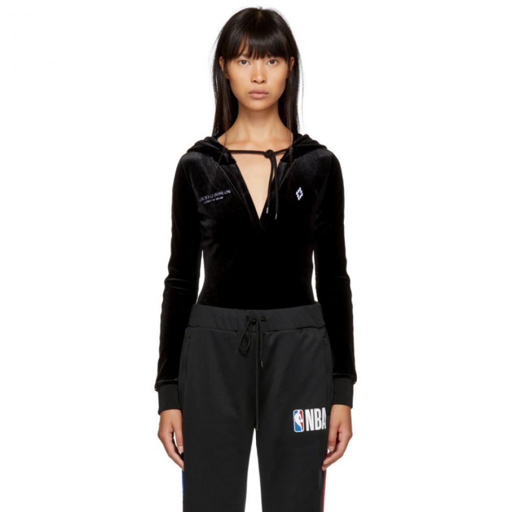 マルセロバーロン Marcelo Burlon County of Milan レディース インナー・下着 ボディースーツ【Black Hooded Bodysuit】