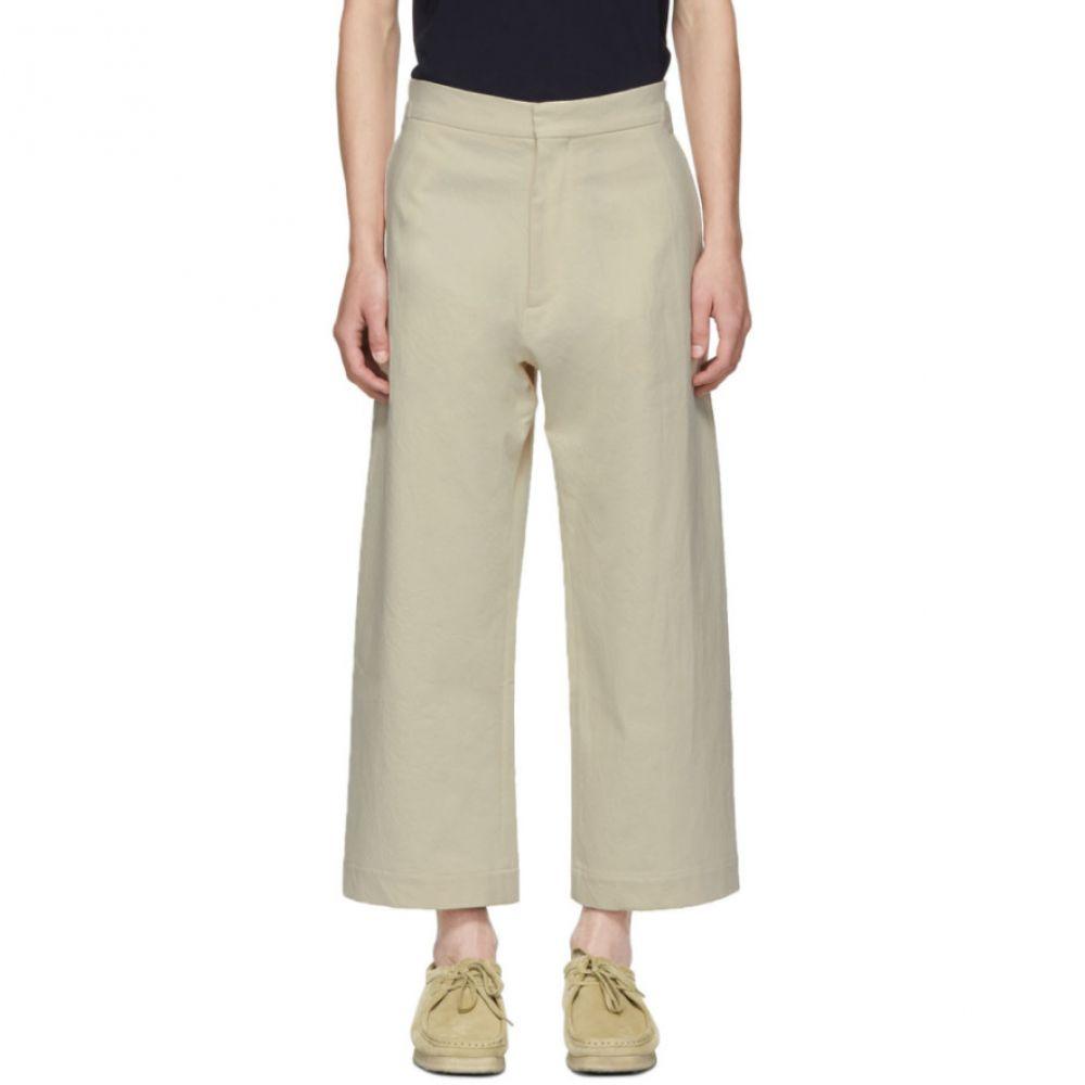 スタジオ ニコルソン Studio Nicholson メンズ ボトムス・パンツ【Beige Suedehead Trousers】