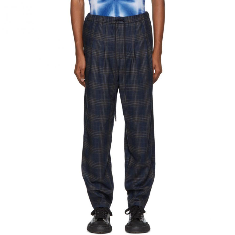 トーガ Toga Virilis メンズ ボトムス・パンツ【Blue Checkered Wool Trousers】