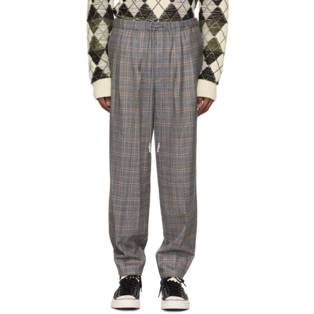 トーガ Toga Virilis メンズ ボトムス・パンツ スラックス【Grey Checkered Wool Trousers】