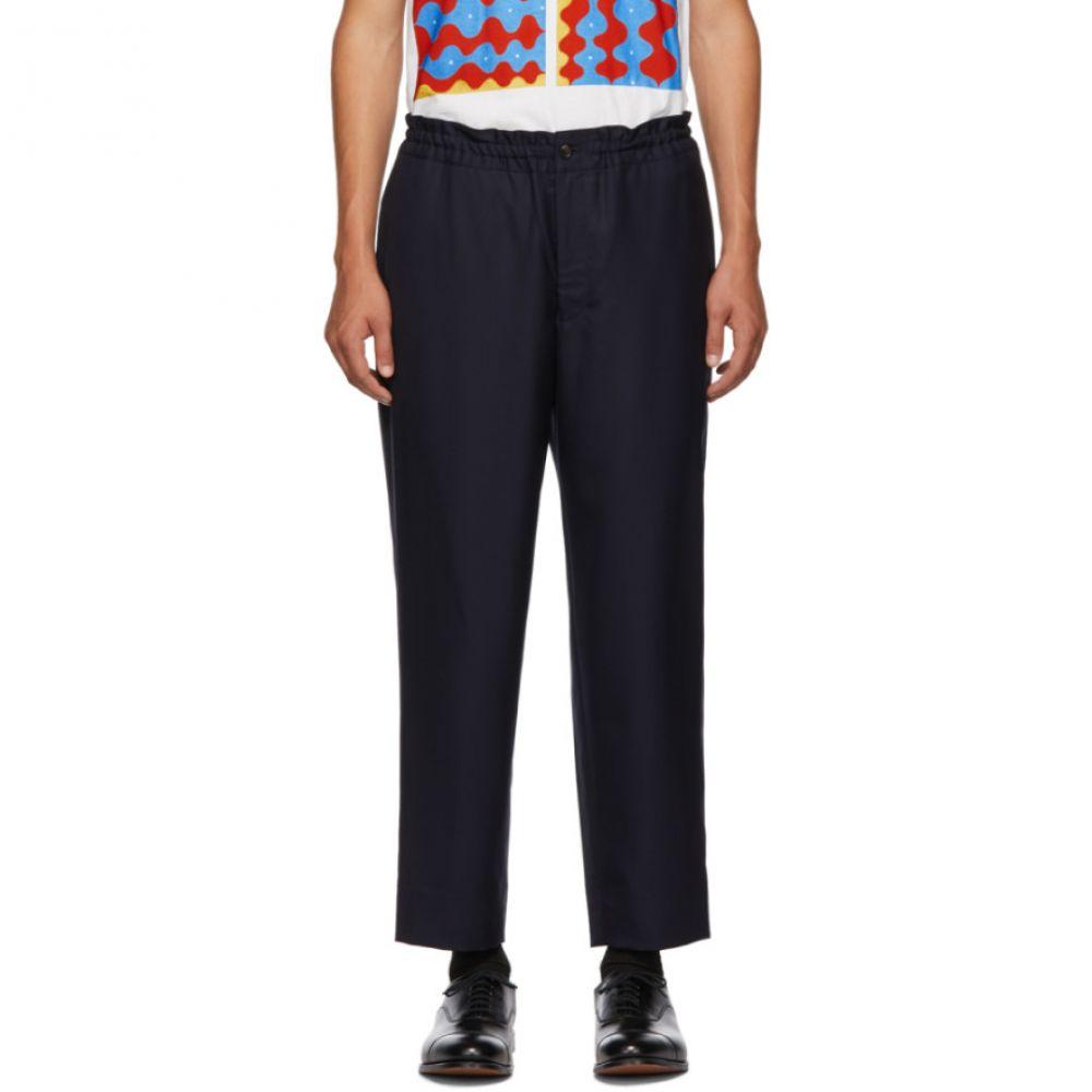 コム デ ギャルソン Comme des Garcons Homme Deux メンズ ボトムス・パンツ【Navy Tasmania Trousers】