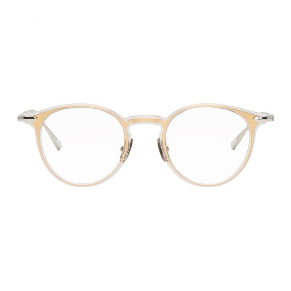 ユウイチ トヤマ Yuichi Toyama メンズ メガネ・サングラス【Gold & Transparent Sarah Glasses】