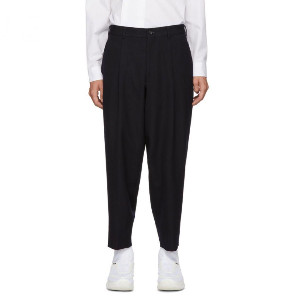 コム デ ギャルソン Comme des Garcons Homme Plus メンズ ボトムス・パンツ【Navy Thick Gabardine Trousers】