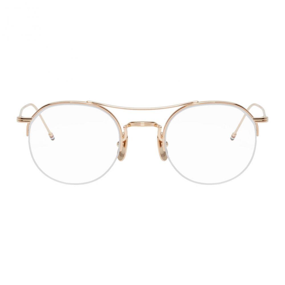 トム ブラウン Thom Browne レディース メガネ・サングラス【Gold TB-903 Glasses】