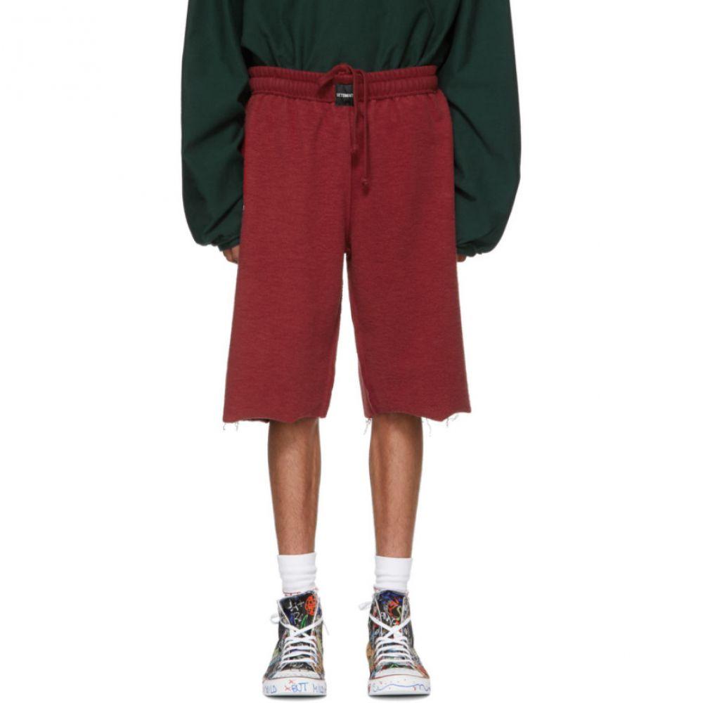 ヴェトモン Vetements メンズ ボトムス・パンツ ショートパンツ【Red Oversized Inside-Out Sweat Shorts】