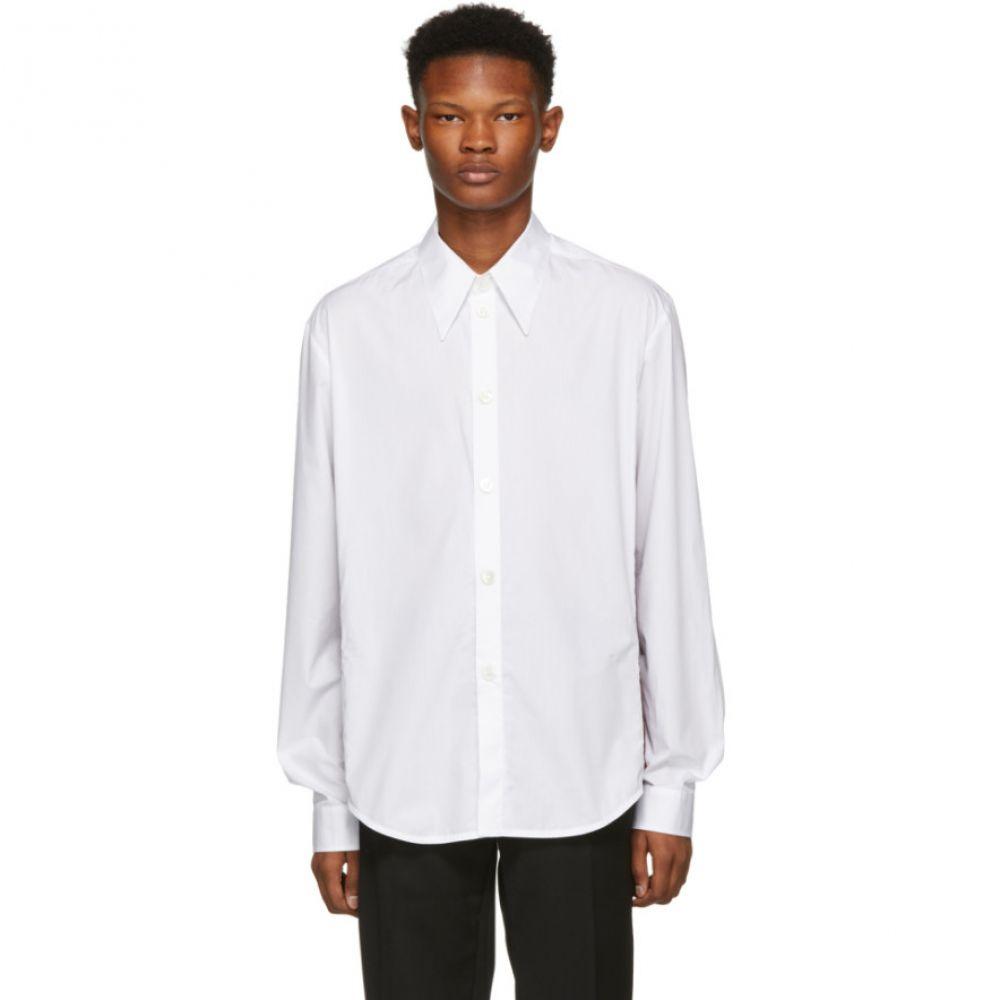 ナマチェコ Namacheko メンズ トップス シャツ【White Highfield Detail Shirt】