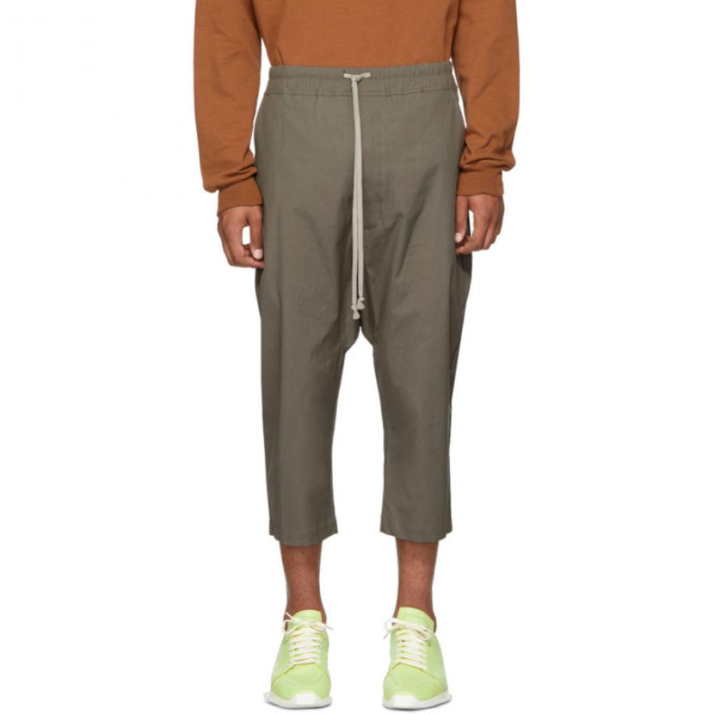 リック オウエンス Rick Owens メンズ ボトムス・パンツ クロップド【Grey Drawstring Cropped Trousers】