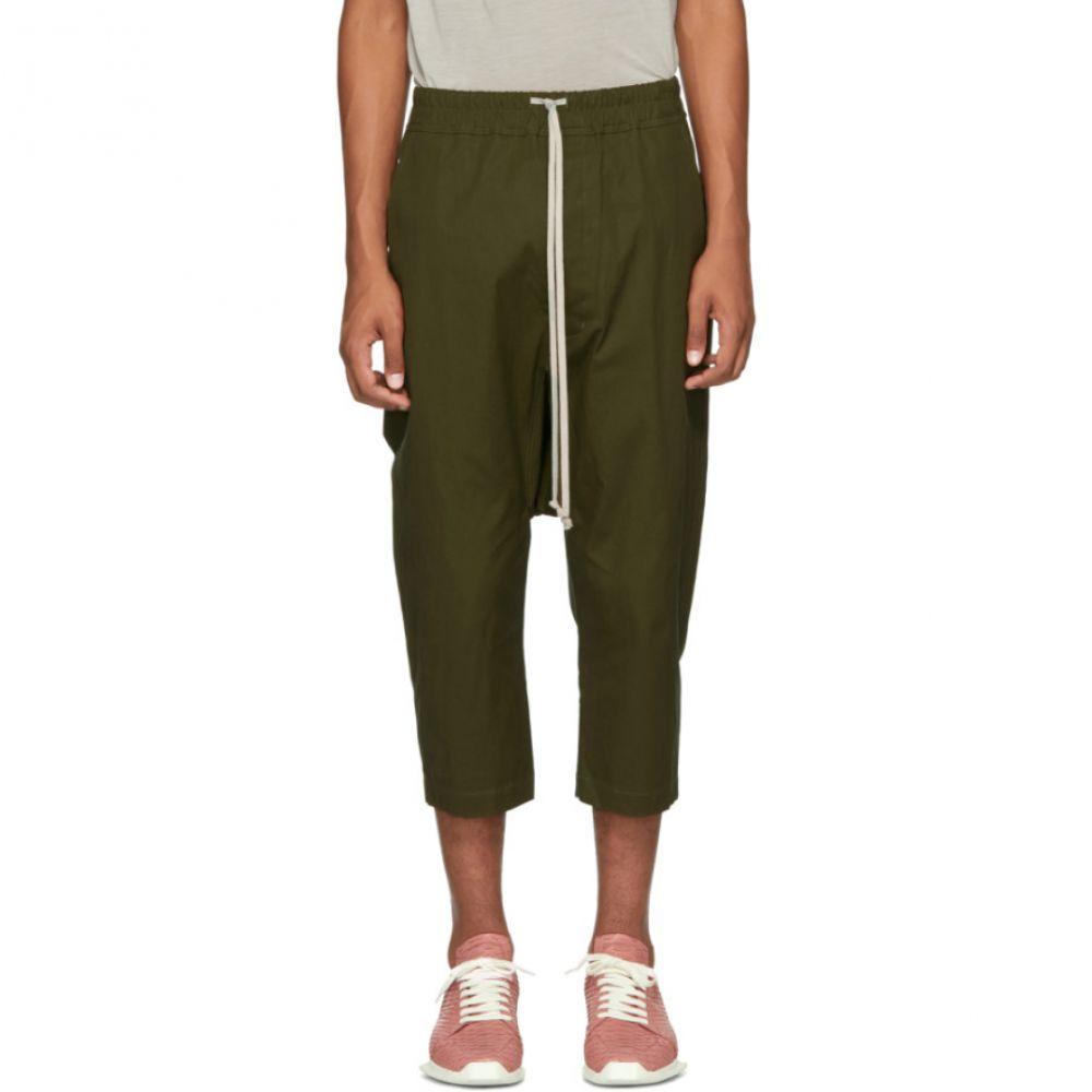 リック オウエンス Rick Owens メンズ ボトムス・パンツ クロップド【Green Drawstring Cropped Trousers】