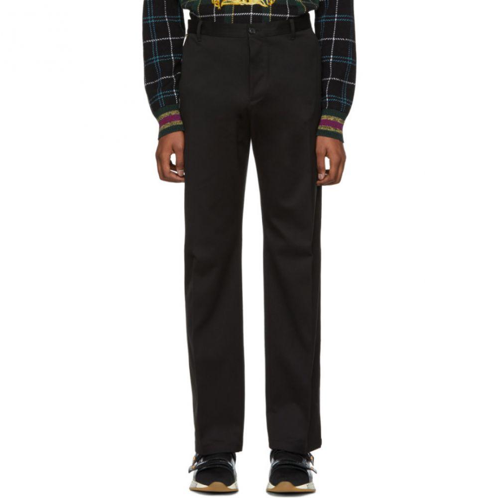ヴェルサーチ Versace メンズ ボトムス・パンツ【Black Cotton Trousers】