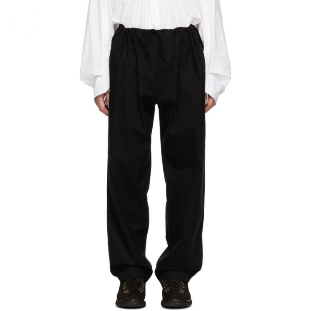 ヨウジヤマモト Yohji Yamamoto メンズ ボトムス・パンツ【Black Regular String Trousers】