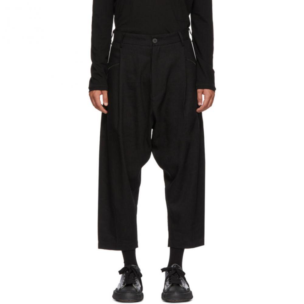 イザベル ベネナート Isabel Benenato メンズ ボトムス・パンツ スラックス【Black Linen & Wool Trousers】