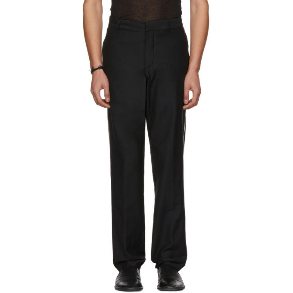 アンドゥムルメステール Ann Demeulemeester メンズ ボトムス・パンツ スラックス【Black Wool Contrast Piping Trousers】