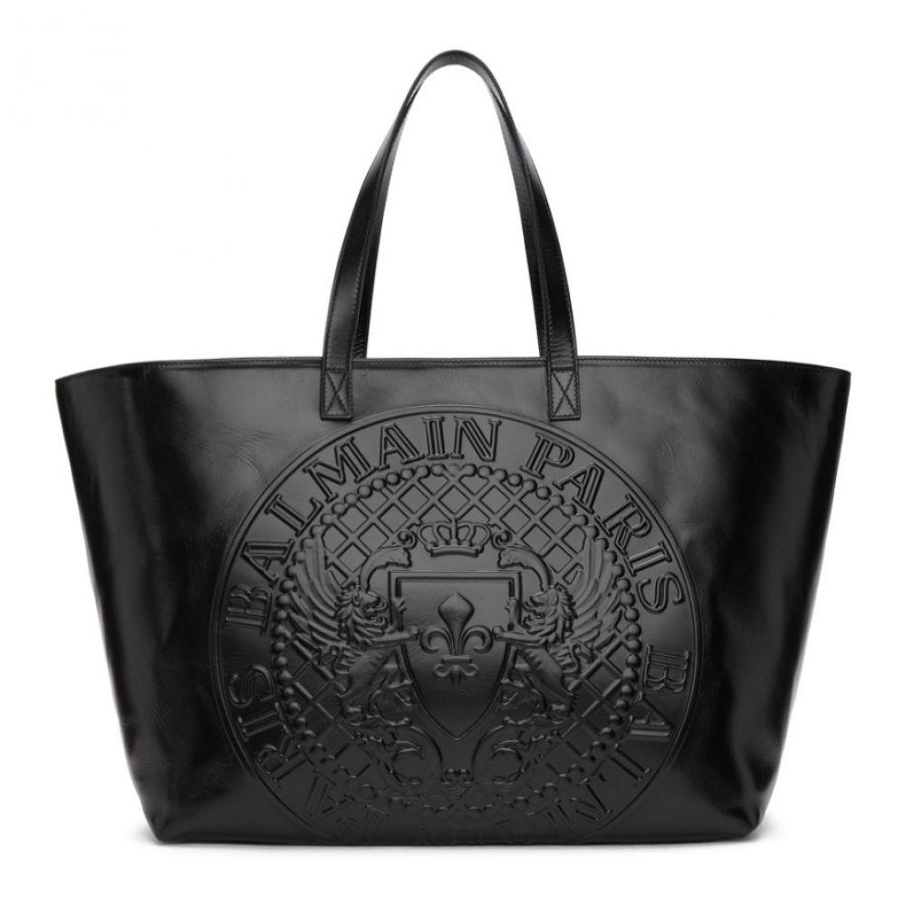 バルマン Balmain レディース バッグ トートバッグ【Black Logo Shopping Horizontal Tote】