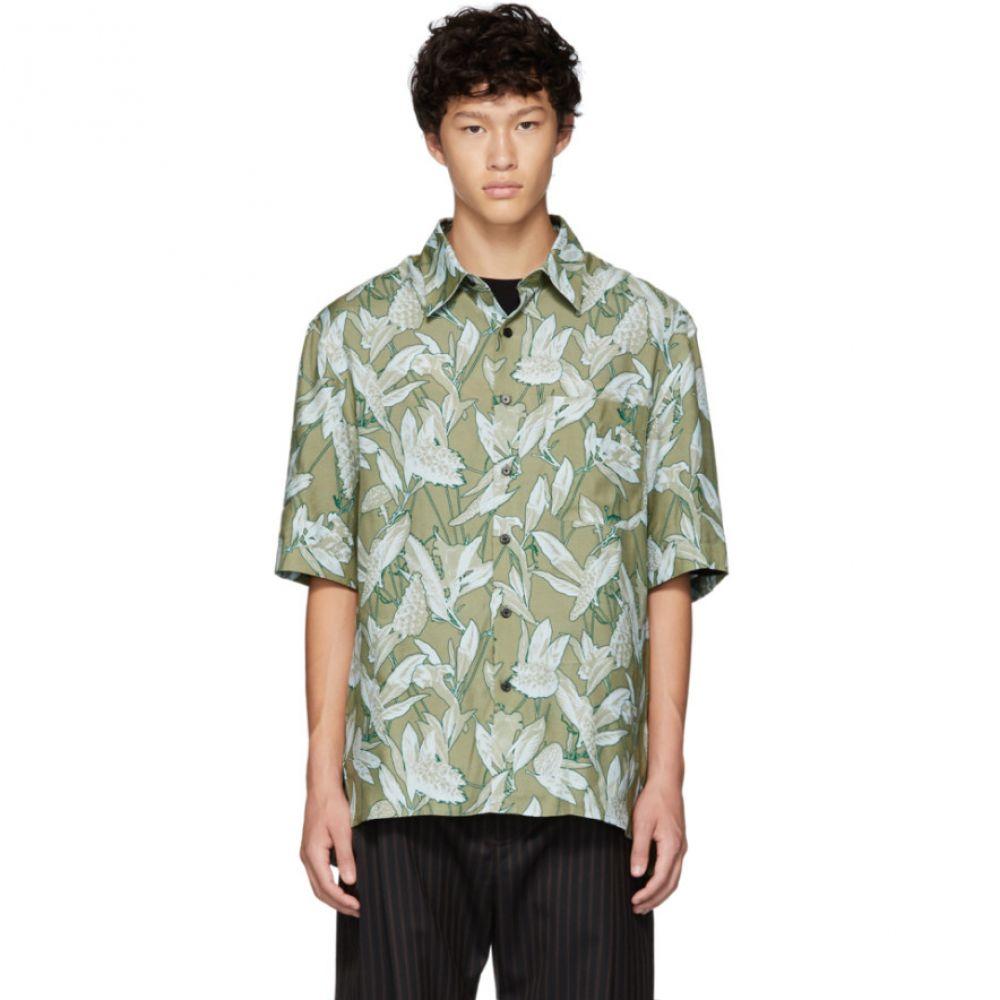 ランバン Lanvin メンズ トップス シャツ【Green Oversized Print Shirt】