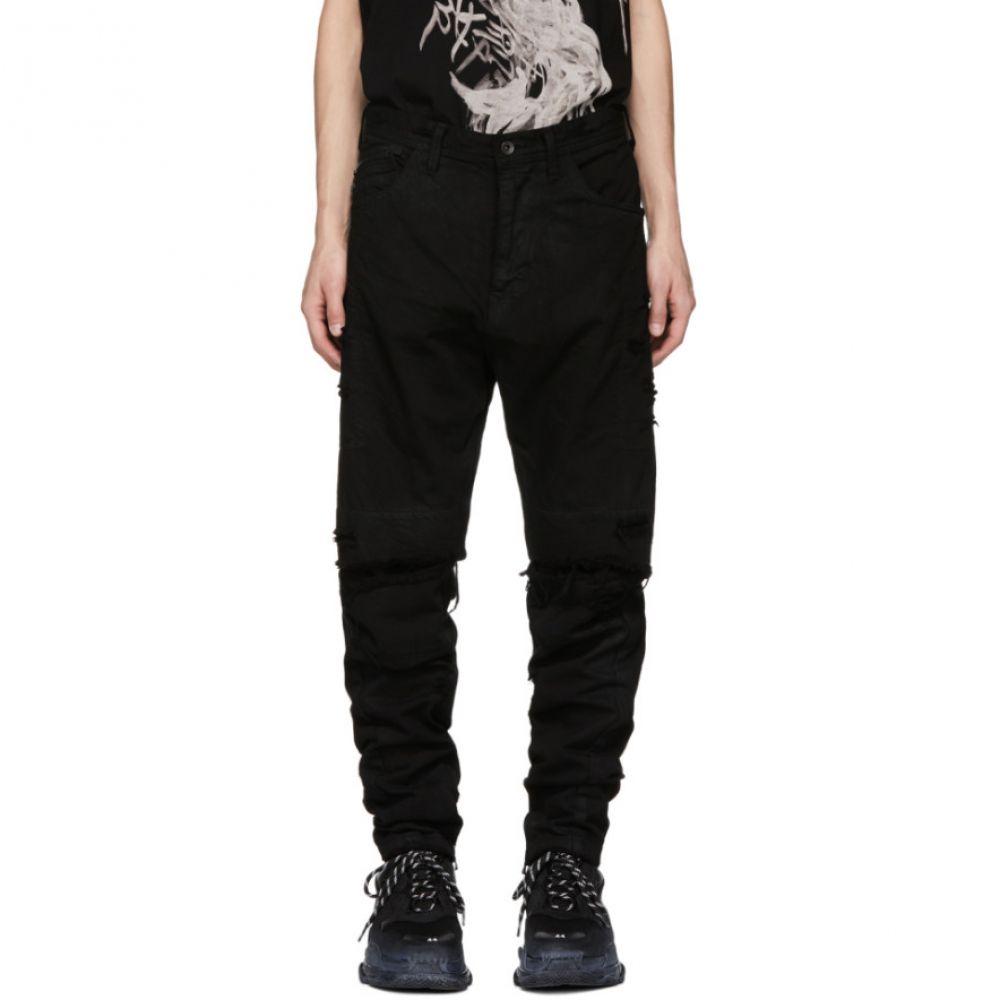 ユリウス Julius メンズ ボトムス・パンツ ジーンズ・デニム【Black Destroyed Jeans】