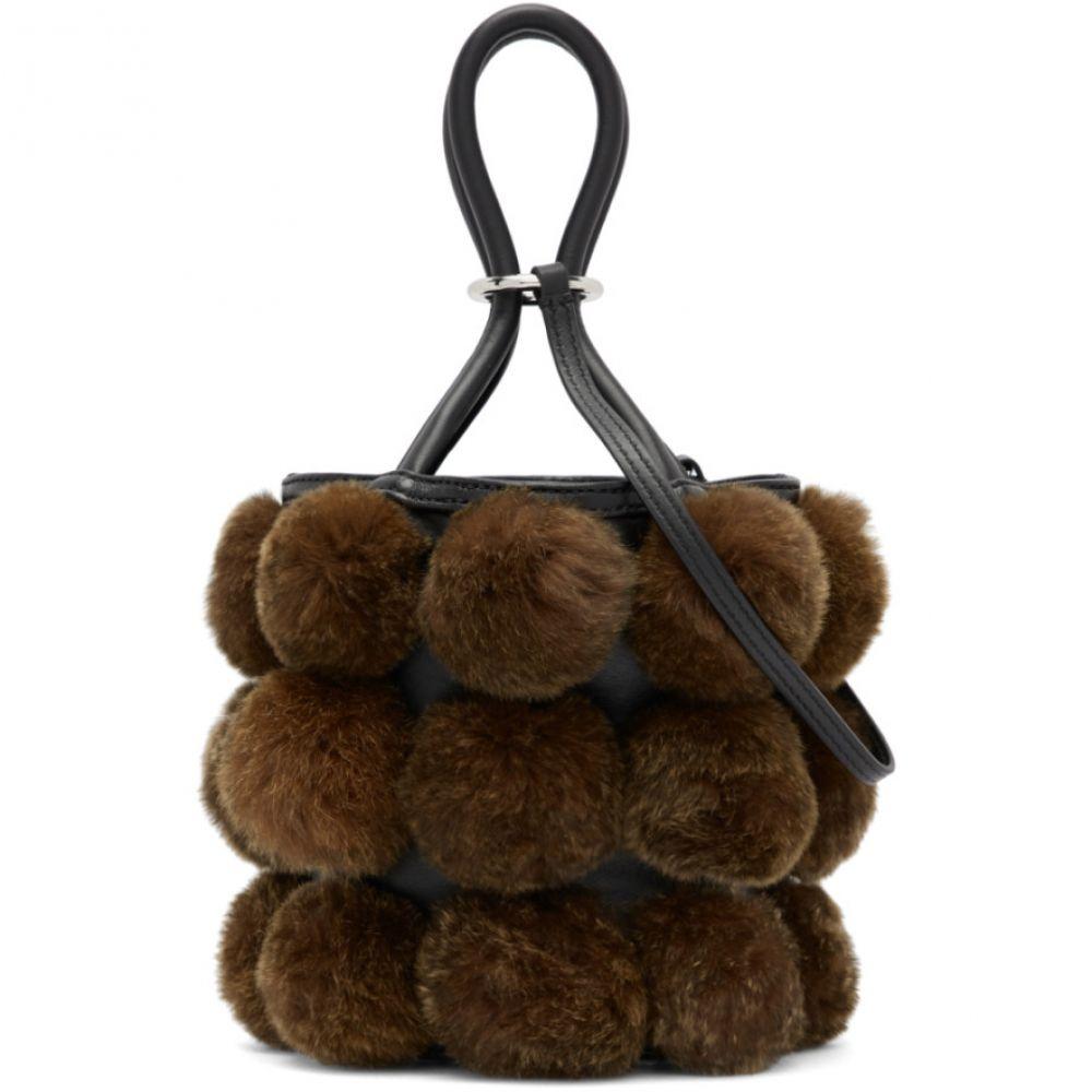 アレキサンダー ワン Alexander Wang レディース バッグ【Black & Brown Fur Mini Roxy Bag】