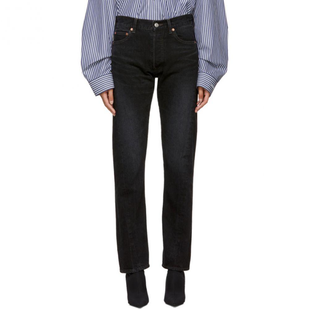 バレンシアガ Balenciaga レディース ボトムス・パンツ ジーンズ・デニム【Black Twisted Leg Jeans】