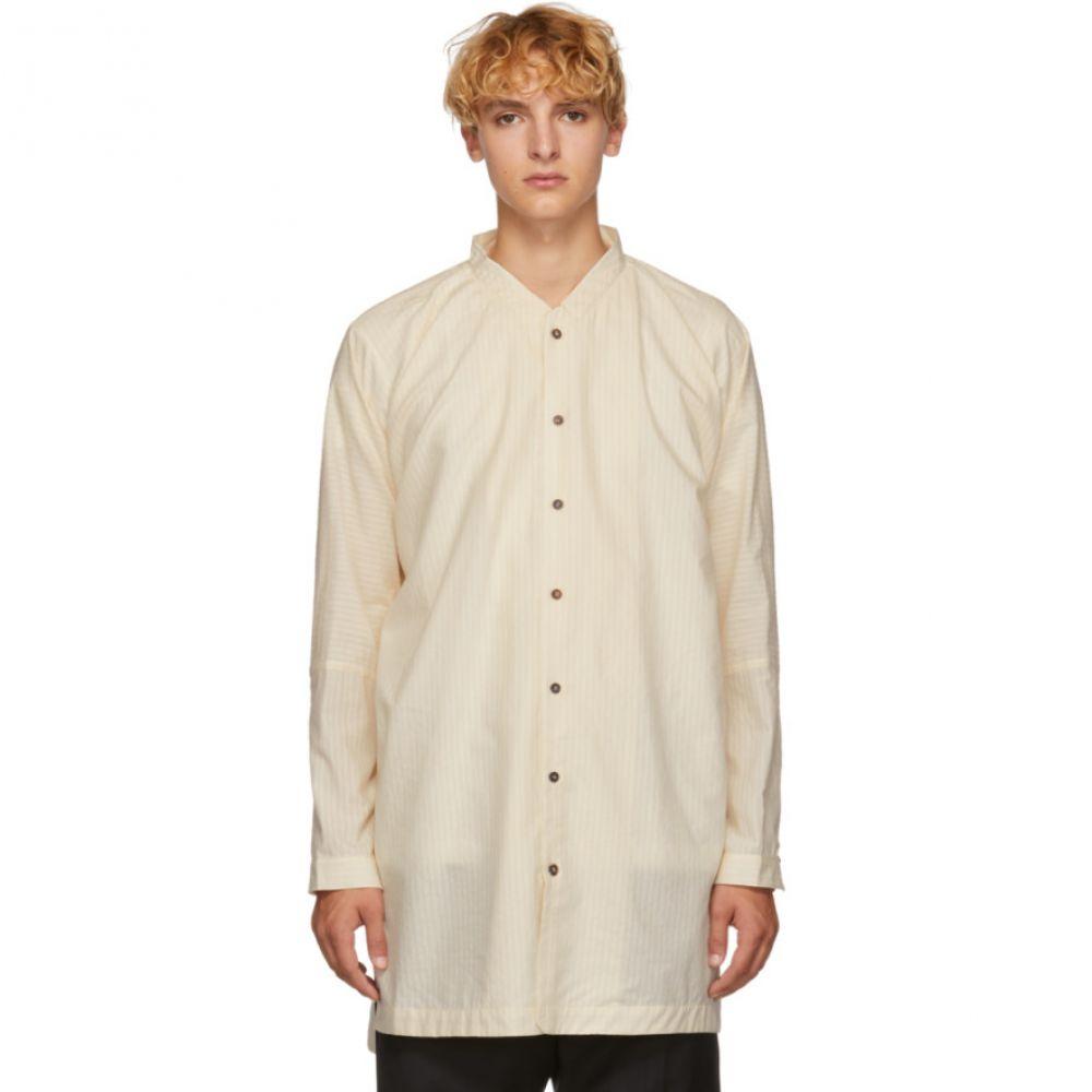 ヤン ヤン ヴァン エシュ Jan-Jan Van Essche メンズ トップス シャツ【White Silk & Cotton Striped Shirt】