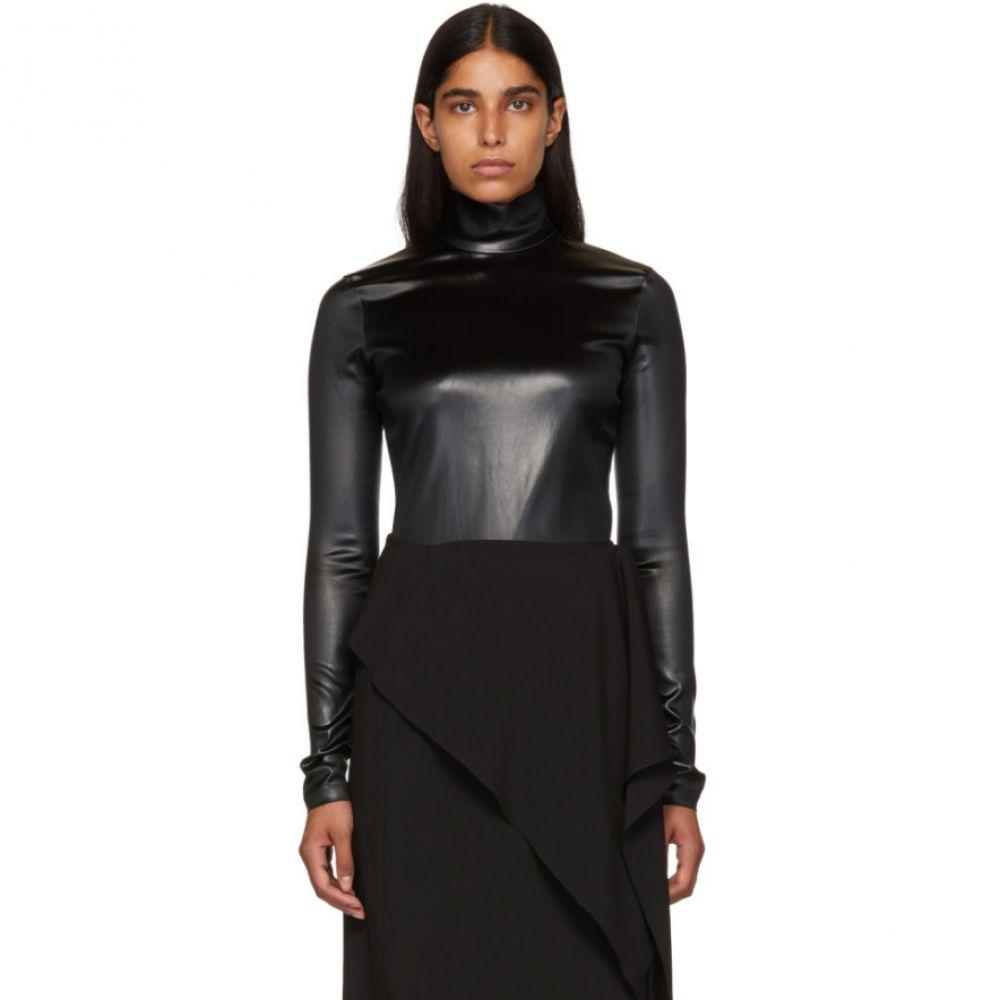 ジバンシー Givenchy レディース インナー・下着 ボディースーツ【Black Faux-Leather Turtleneck Bodysuit】