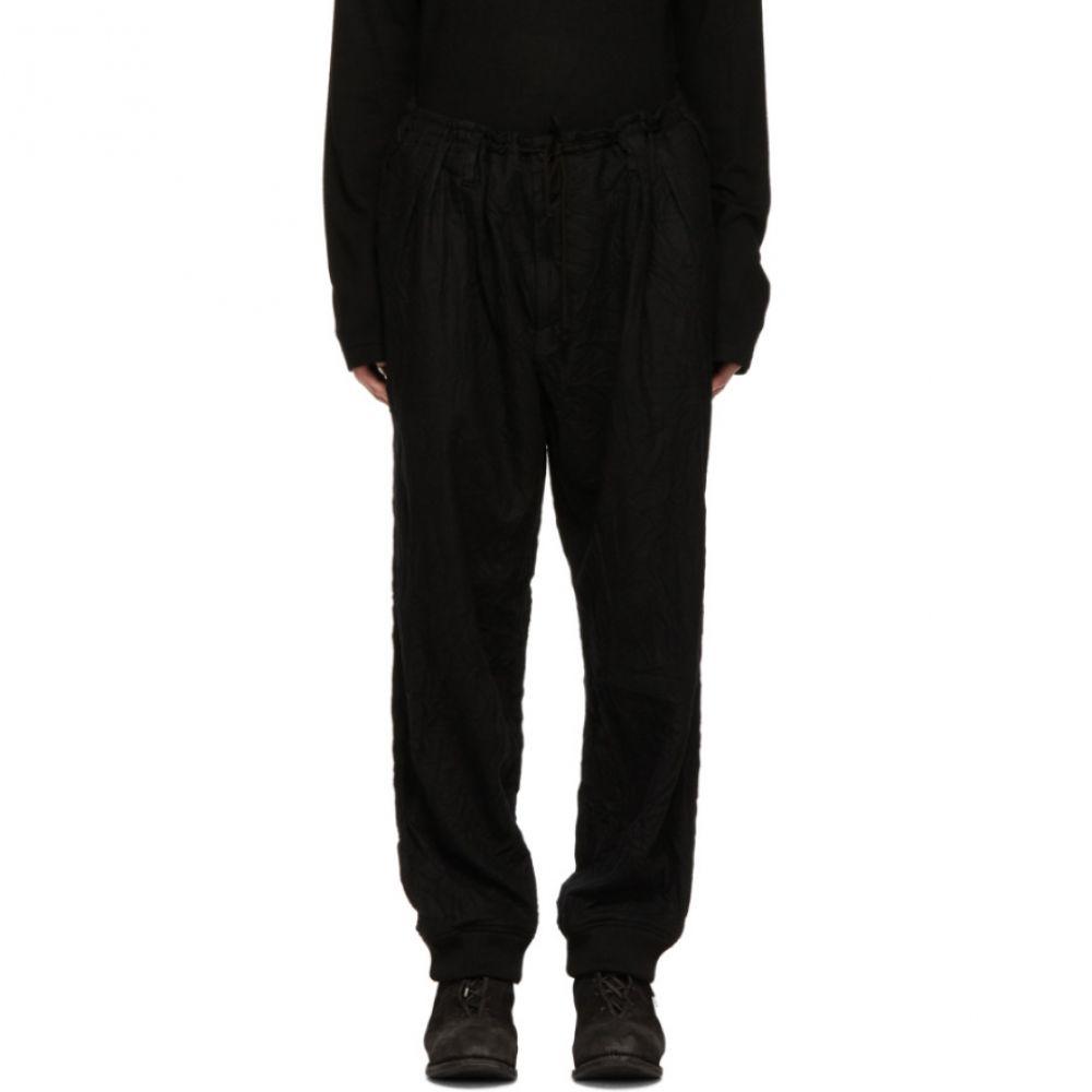 ヨウジヤマモト Yohji Yamamoto メンズ ボトムス・パンツ【Black Wrinkle Trousers】