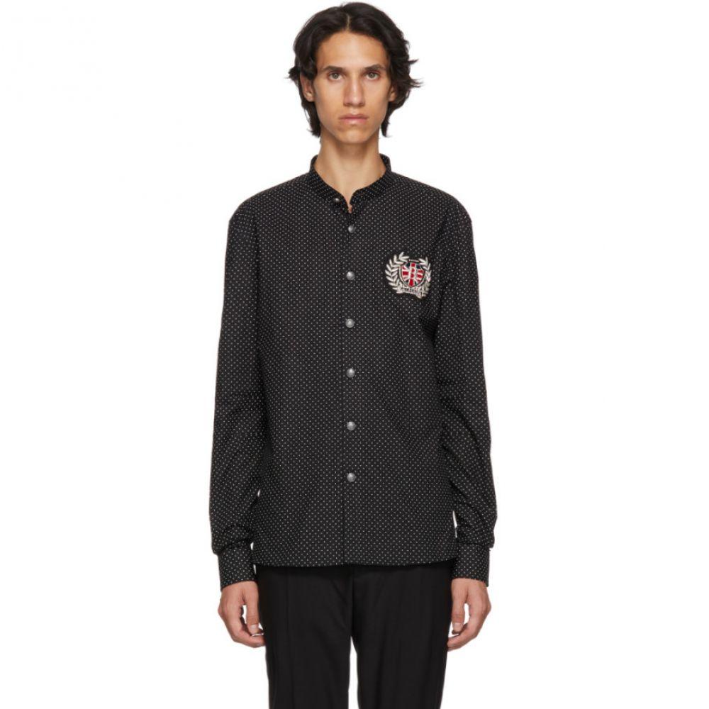 バルマン Balmain メンズ トップス シャツ【Black Polka Dot Badge Shirt】